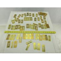 """Reese's #87 Vintage 1"""" Brass Gothic Adjustable Lockedge Stencils"""