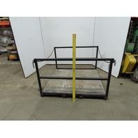 """Custom Fab 53"""" x 53"""" Forklift Storage Basket Material Transport Platform"""