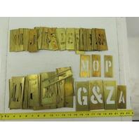 "Reese's #93 Vintage 3"" And 2"" Brass Gothic Adjustable Lockedge Stencils"