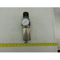 """Arrow B754FW5 1/2"""" NPT Stainless Steel Bowl Inline Air Filter Regulator"""