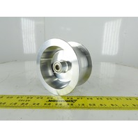 "6"" OD x 3"" Groove Flat Belt Idler Pulley Sheave Aluminum 1-1/8"" Bore"