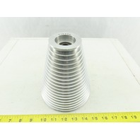 "6"" OD -2-3/8"" 19 Groove Step Cone Pulley Textile Material Separating Sheave"