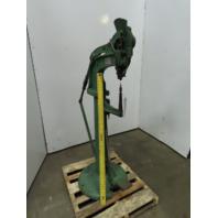 """Vintage Kick Press Rivet Machine Auto Feed 10"""" Throat 0.1425"""" Rivets"""
