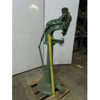 "Vintage Kick Press Rivet Machine Auto Feed 11"" Throat"