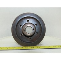 "6-3/8"" OD x 4-1/2"" Wide 9 Groove 3V Section Pulley Sheave 1-1/4"" Bore"