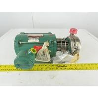 "Tri-Clover C114MDG56T-S 1/2Hp 208-230/460V 1.5x1.5""  Sanitary Centrifugal Pump"