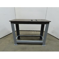 "Brute Machine Base 48""x20""x36"" Steel Welding Work Bench Table Ground 5/8"" Top"