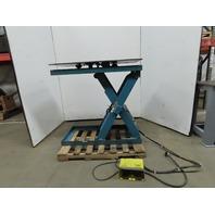 "Advance PM-3536+Z 3500Lb Hydraulic Scissor Lift Table 48""x27"" Turn Top 115V 1Ph"