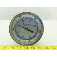 "Trerice 5"" Dial Thermometer -20° - 120°C 0-250°F Adjustable Angle"