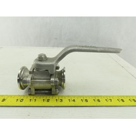 "Ladish 1"" Sanitary Flange Stainless Steel Ball Valve 250PSI @ 100°F"