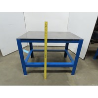 """31-3/4"""" x 49-1/2"""" Steel Top Light Duty Work Assembly Fabrication Table 36"""" Tall"""
