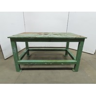 "Blanchard Ground 36""x60""x36"" Steel Machine Base Welding Work Bench Table 1"" Top"