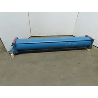 "Hydro-Line 12"" Bore 78"" Stroke 2"" Rod Double Acting Tie Rod Pneumatic Cylinder"