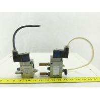 Festo MOFH-3-1/4 MFH-5-1/4 2 Position Pneumatic Solenoid Valves 110V Lot Of 2