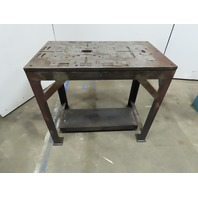 """Custom Fab 24"""" x 41"""" 3/4"""" Thick Steel Top Assembly Work Bench Layout Table"""