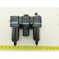 "Wilkerson C18-04-FLG0 Filter Regulator Lubricator  1/2""  NPT 0-125 PSIG"