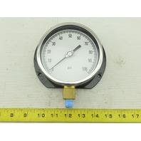 "Grainger 11A487 Pressure Gauge  0 to 100 psi Range  1/4"" NPT"