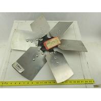 "VC 91036501 21"" Industrial 6 Blade Aluminum 30° Fan Wheel 2-5/8"" Center"