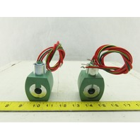 Asco MP-C-080 120V 50/60Hz Solenoid Coil Lot Of 2
