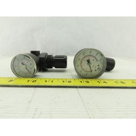 """Norgren R07-200-RNKG 1/4"""" NPT 0-300 PSI Air Pressure Regulator Lot Of 2"""