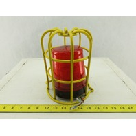 JW Speaker 540 R Forklift Safety Beacon Red Incandescent Strobe Light With Cage