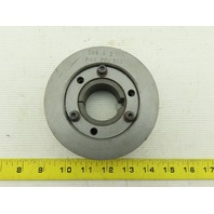 "5V4 9 2 SDS Cast Iron 2-Groove Pulley Sheave W/11/16"" SDS Bushing"