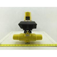"Hytork Pneumatic Actuator W/Accutrak Dual Display Monitor 1/4""NPT"