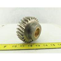 """G&S 50186 Helical Gear 27 Teeth 1-1/8"""" Wide 1-1/8"""" Brass Bushed Bore 3.625 OD"""
