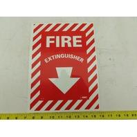 "NMC GL10P NMC Fire Extinguisher Pressure Sensitive Vinyl Sign 9""Wx 12""H"