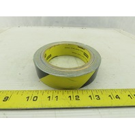 "3M 1"" Vinyl Floor & Egress Tape 5.4 mil Black & Yellow Striped General Traffic"