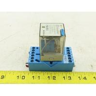 Finder 60.13.9.024.5070 10A 250V 24VDC Relay W/90.73 Base Rail Mount
