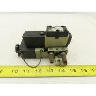 SMC NVF2100-3FZ Pneumatic Solenoid Valve W/Base