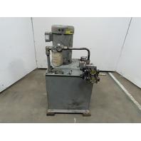 Parker H2B5.1NS3AP0R2/10 10Hp 20 Gallon Hydraulic Power Unit 230/460V 3Ph