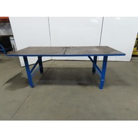"36"" x 84"" Steel Top Fabrication Work Bench Welding Table 1-1/4"" Thick 31"" Tall"