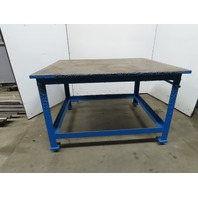 "Steel Welding Work Bench Assembly Layout Table 60""x 48""x 38"" High 1"" Thick Top"