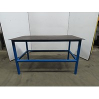 "Steel Welding Work Bench Fabrication Layout Table 68""x37""x39""H 1/4"" Thick Top"