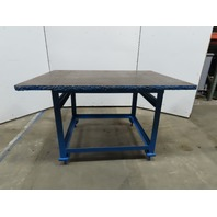 "1-1/2"" Thick Top Steel Fabrication Layout Welding Table Work Bench 60x112x38"""