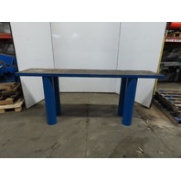 "91x20x36-1/2""H Welding Assembly Layout Table Bench Machine Base 2"" Thick Top"