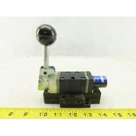 "Mead C2-8 1/4"" Pneumatic Hand Lever Spool Valve 2 Position Spring Return"