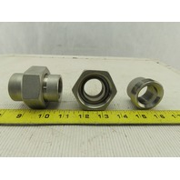 """1"""" NPT Stainless Steel Pipe Union 150/1000# Lot Of 2"""