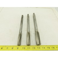 """Cleveland Twisted Flute Chucking Reamers 11/16"""" 13/16"""" 15/16"""" Lot Of 3"""
