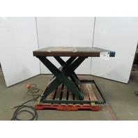 """Southworth L32-36W 2000Lb Hydraulic Scissor Lift Table 48x40"""" Top 7-43"""" Ht. 460V"""