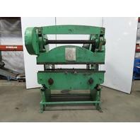 "Chicago Dreis & Krump Mfg 334 60""x35 Ton Mechanical Press Brake W/Back Gauge 3Ph"