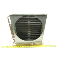 "Super Radiator Coils 13"" x 11"" x 2-1/2"" Thick Fin Heat Exchanger 2 Pass 10 FPI"