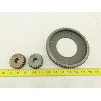 R-M-13 Spur Gear Set For Roll-A-Matic Saw Lot Of 3 See Info