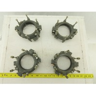 "Buchi 3-1/2"" OD Laboratory Rotavapor Glass Apparatus Clamps DN70 Lot Of4"