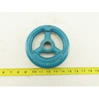 "6"" OD Cast Iron Hand Wheel Crank 1"" Bore"