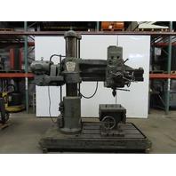 "Carlton 4' x 11"" Radial Arm Drill Press 230V 3Ph"
