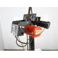 CM Lodestar RR Electric Chain Hoist 2 Ton 15'Lift 16FPM 635 Power Trolley 3PH