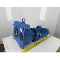 Sumitomo EHYMS15-D616B-Y2-B-28 Bevel Gear Reducer 28: 1 Ratio  230/450V W/Brake